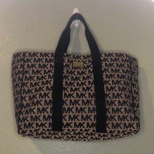 Michael Kors Large Weekender Bag Black + Grey